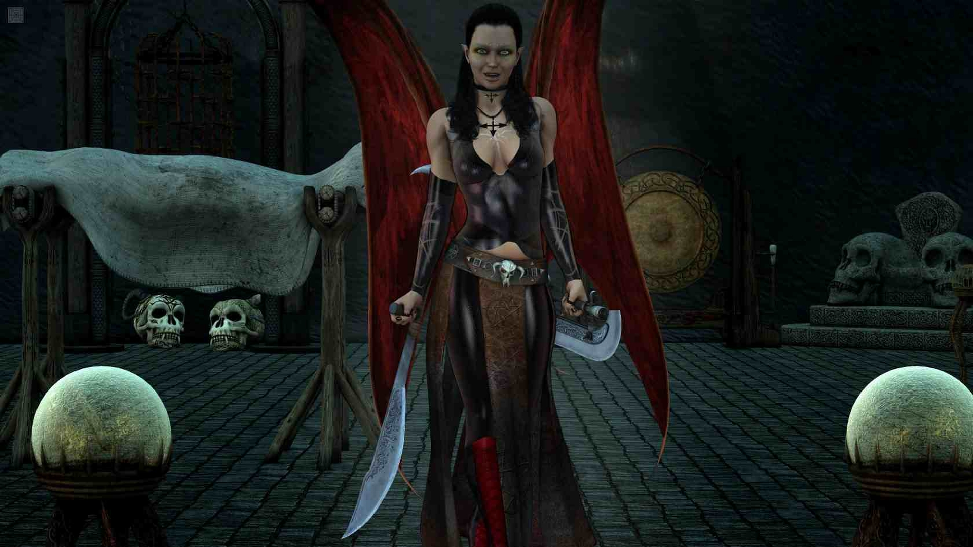Gothic Girl Wallpaper Iphone Vampire Hd Wallpaper Background Image 1920x1080 Id