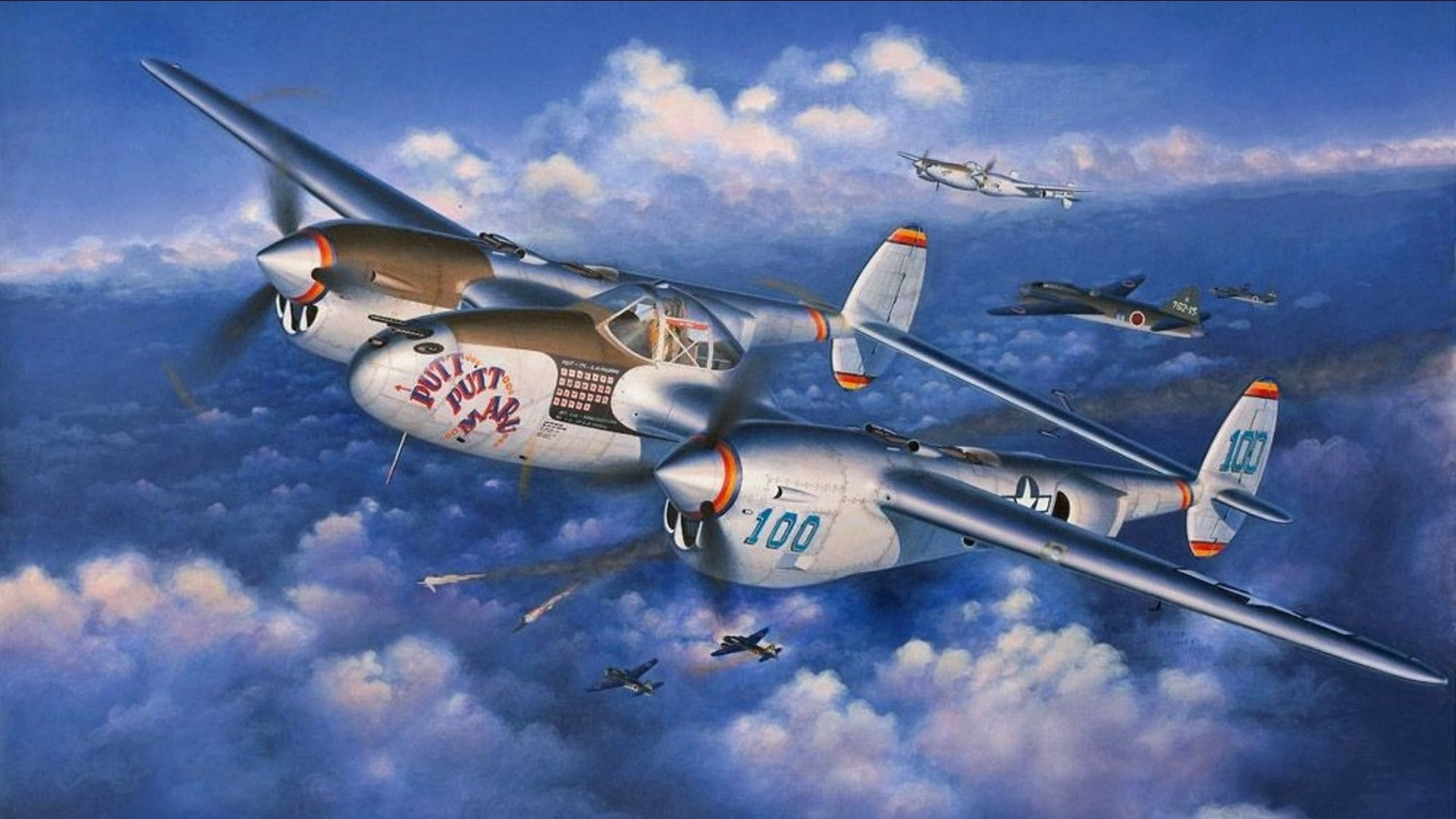 X Wing Fighter Iphone Wallpaper A Squadron Of P 38 Lightning Attack An Japanese Bomber