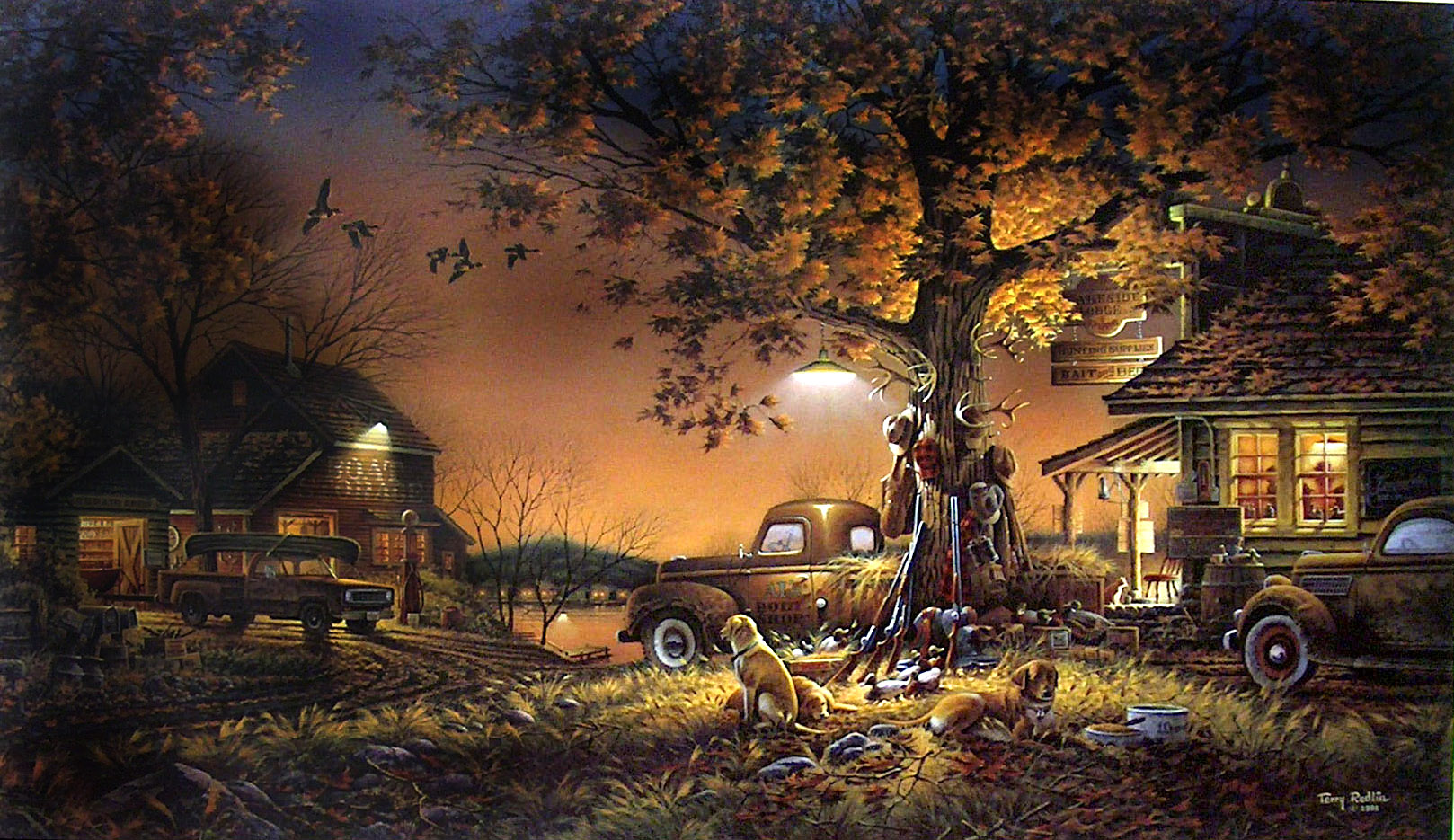 Snoopy Fall Wallpaper Painting Wallpaper And Background Image 1618x935 Id