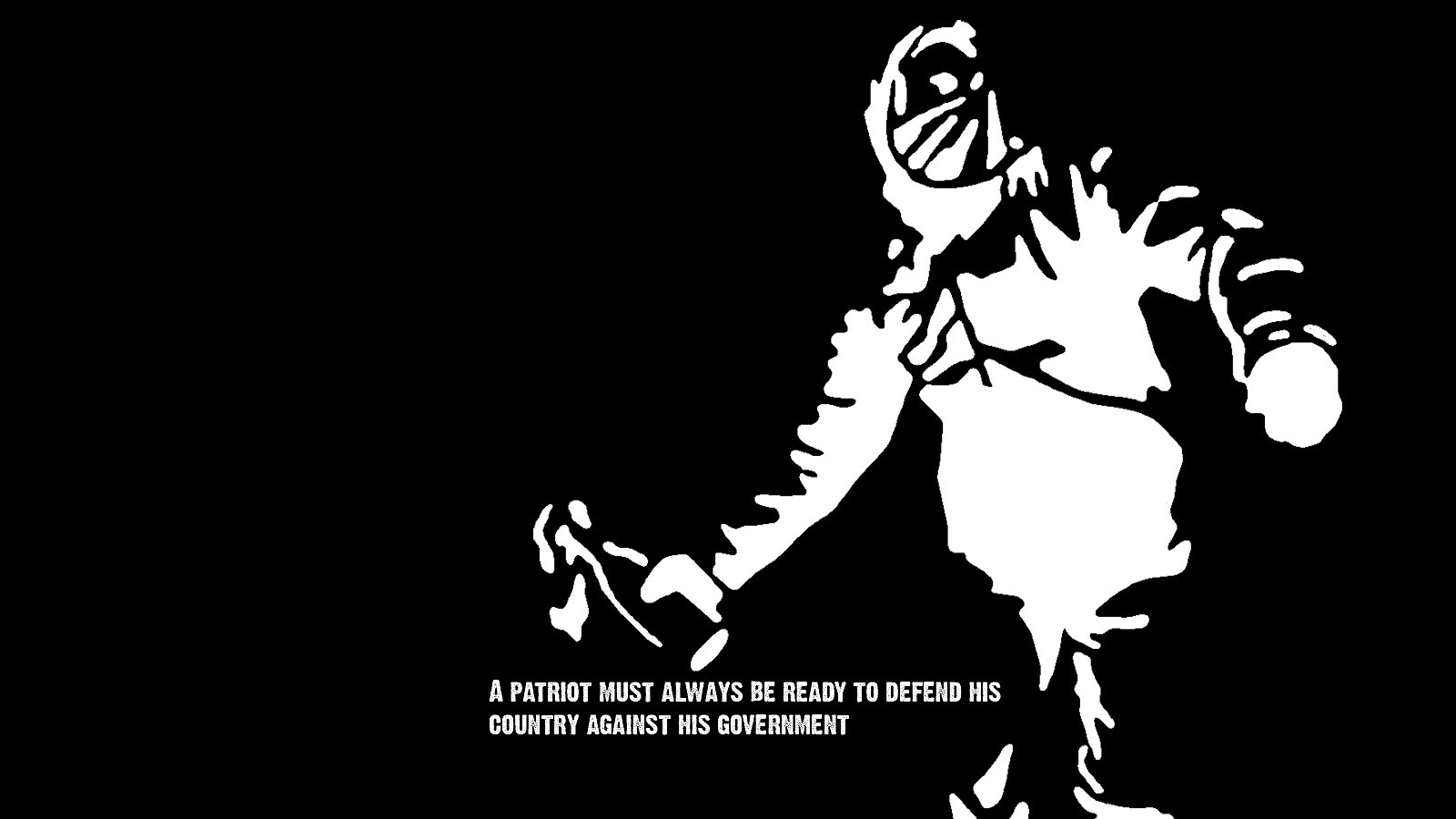 V For Vendetta Quotes Phone Wallpaper Anarchy Wallpaper And Background Image 1600x900 Id 201876