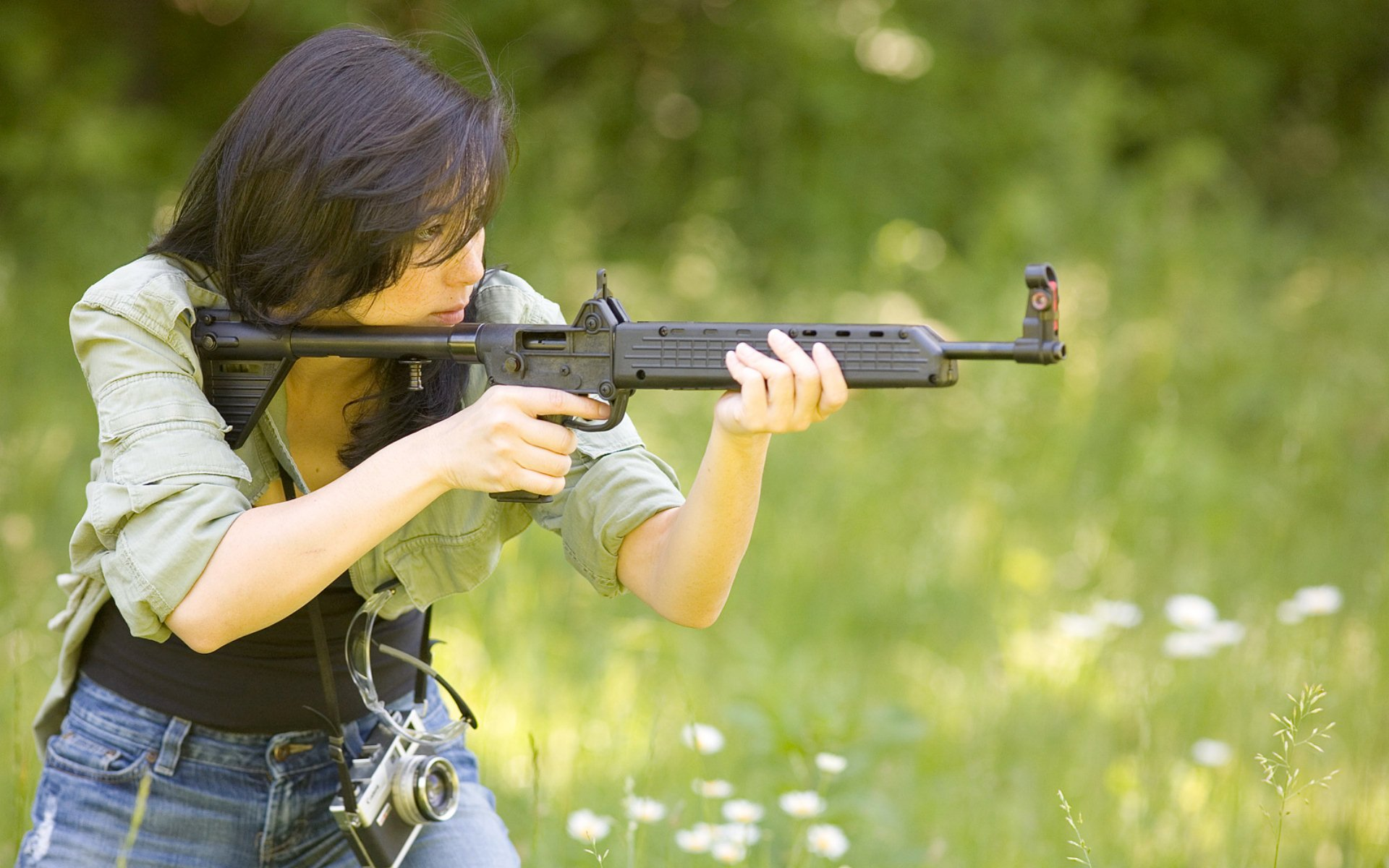 Punjabi Girl With Gun Hd Wallpaper Women And Guns Full Hd Wallpaper And Background Image