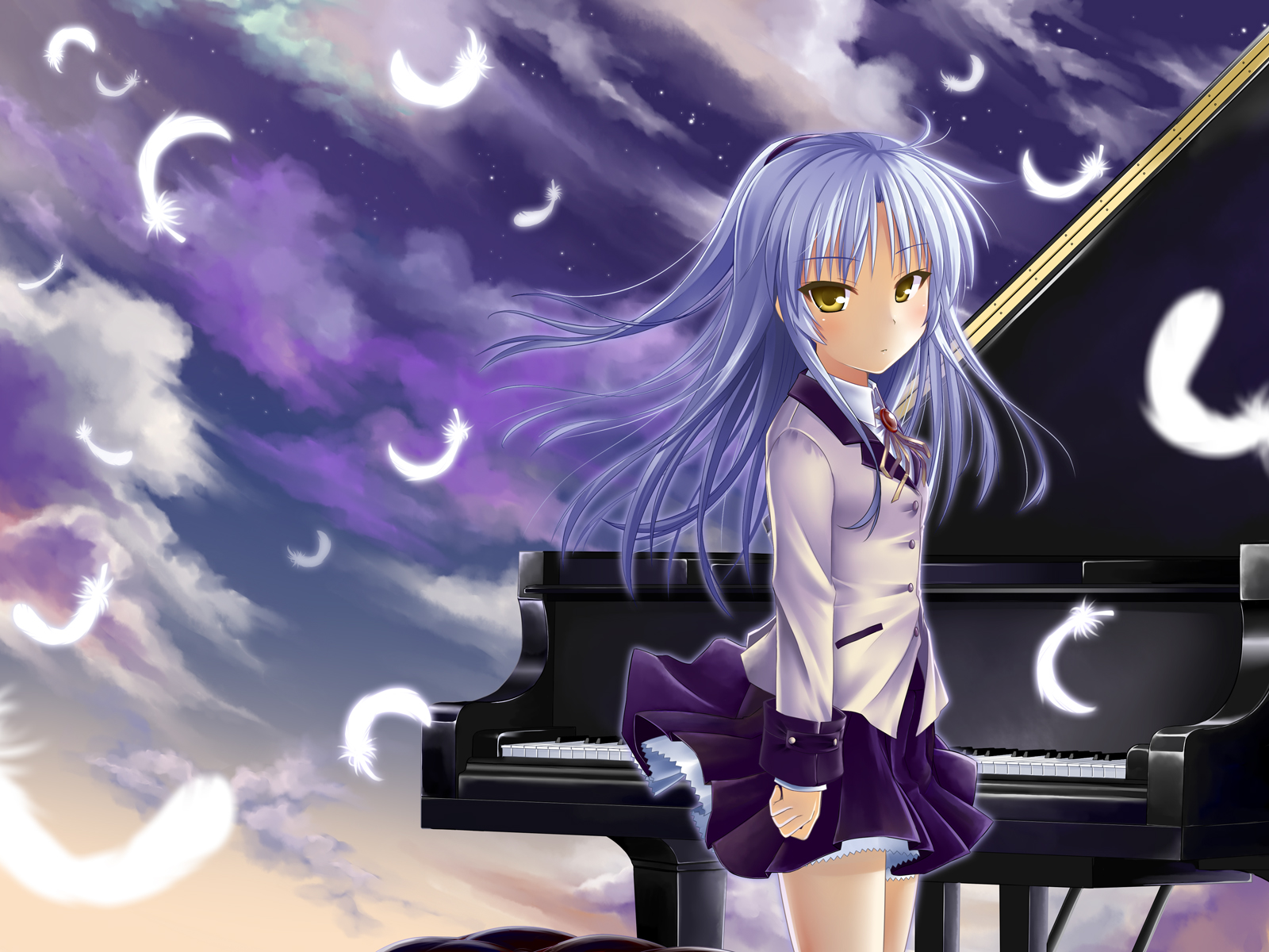 Anime Girl With Headphones Wallpaper Hd Angel Beats Wallpaper And Background Image 1600x1200