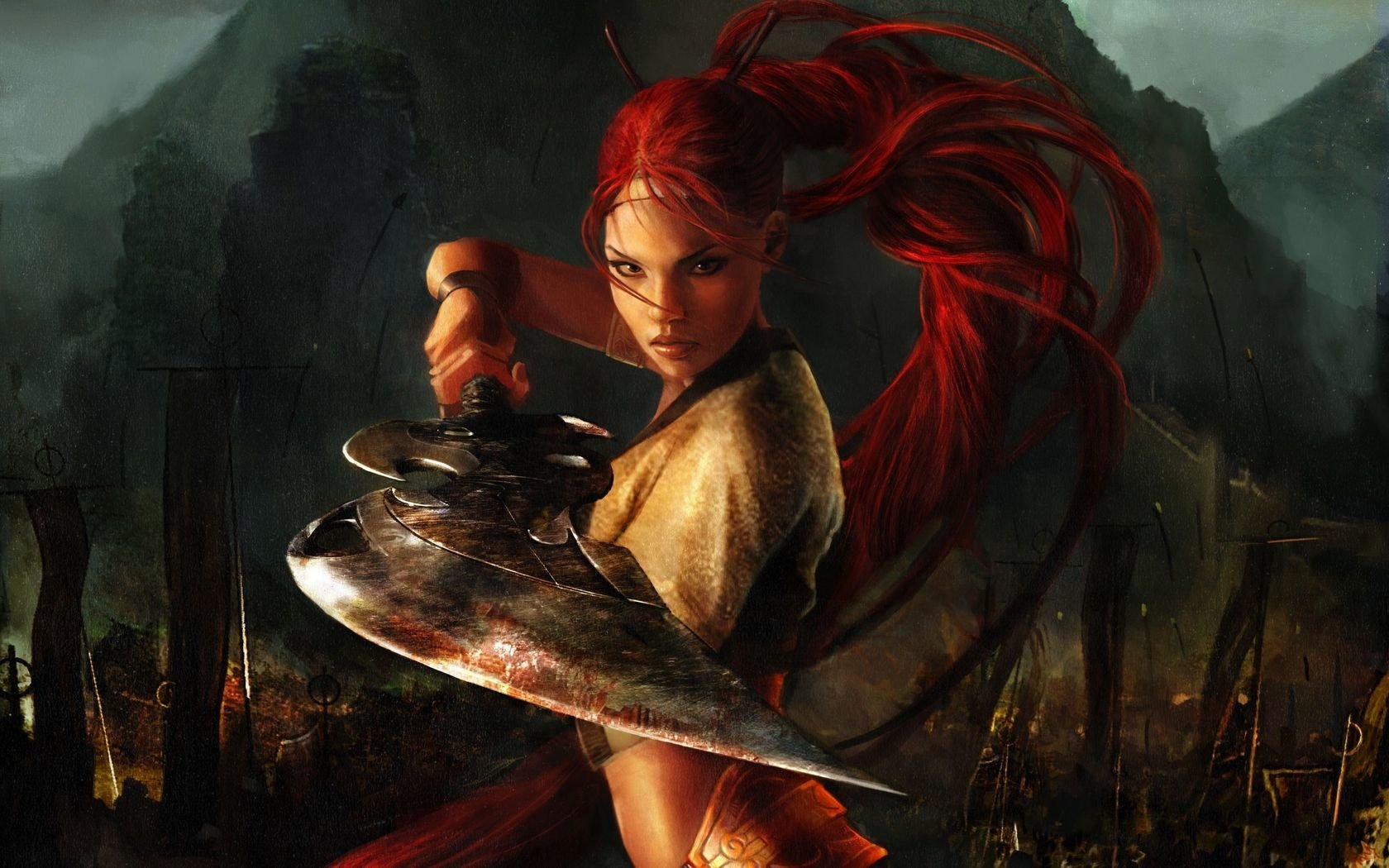 Asian Girl Hd Wallpaper 1920x1200 Heavenly Sword Wallpaper And Background Image 1680x1050