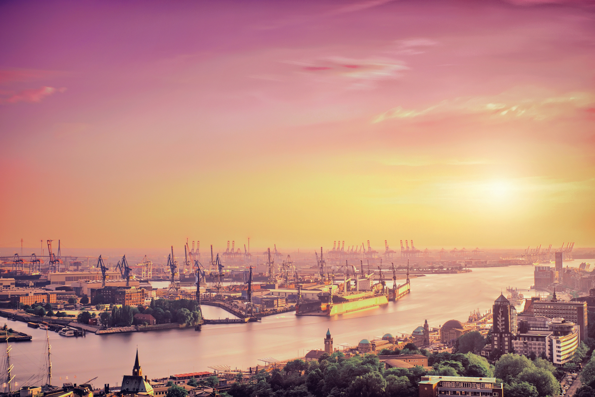 Hamburg Skyline Bild hamburg, Is The Second-largest City In Germany Full Hd ...