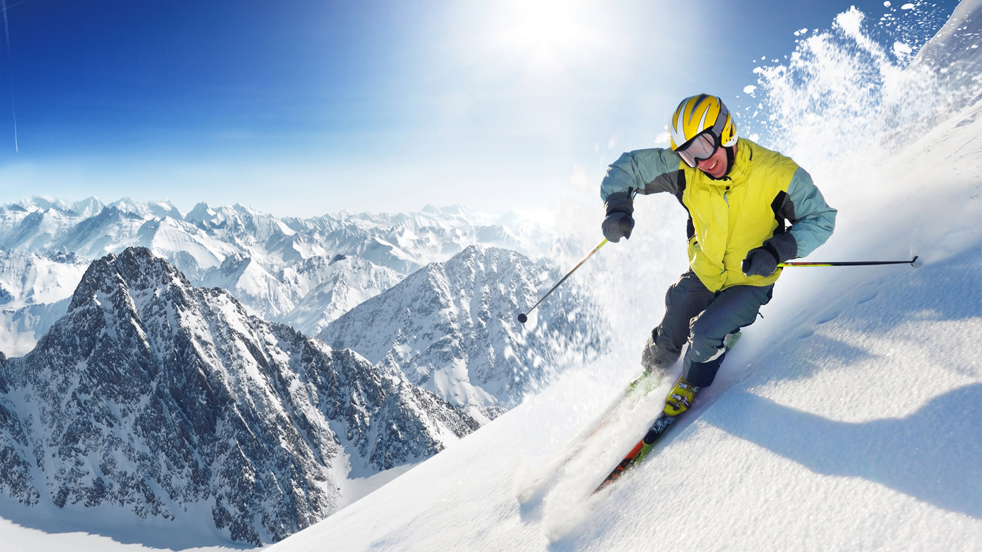 Skiing Wallpaper Skiing Hd Wallpaper Background Image 1920x1080 Id 275538