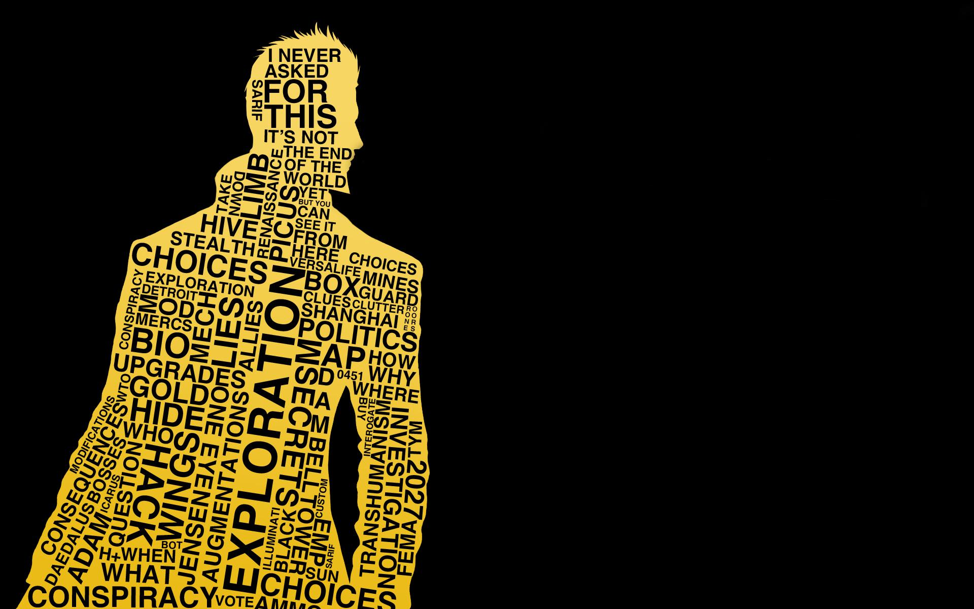 Deus Ex Human Revolution Quotes Wallpaper Deus Ex Computer Wallpapers Desktop Backgrounds