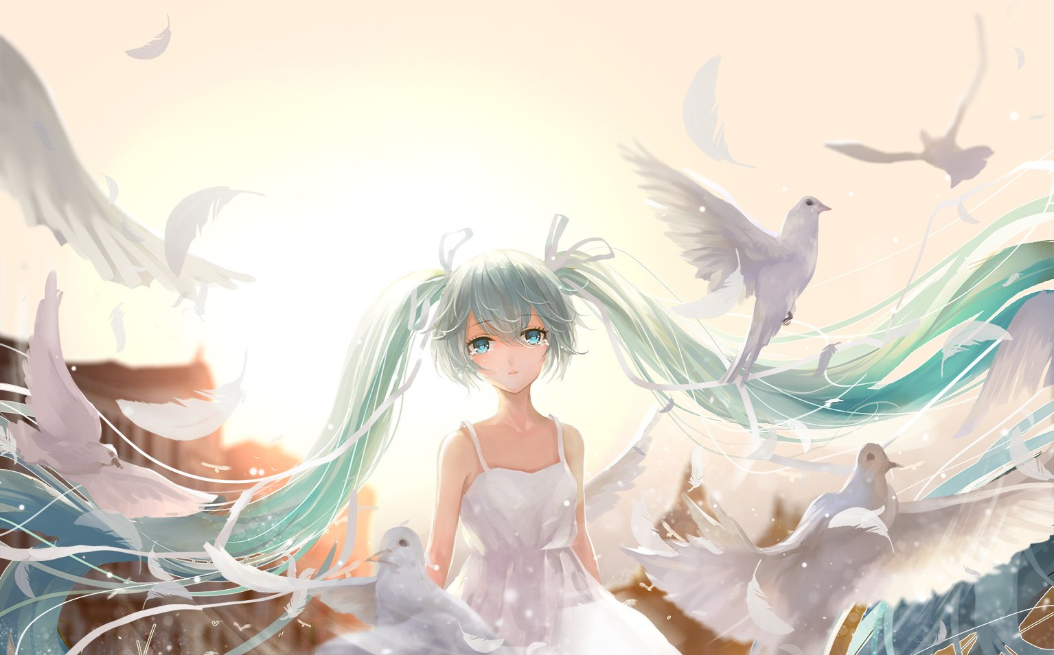 Anime Girl Wallpaper White Haired Demon Guy Vocaloid Wallpaper And Background Image 1535x955 Id 592861