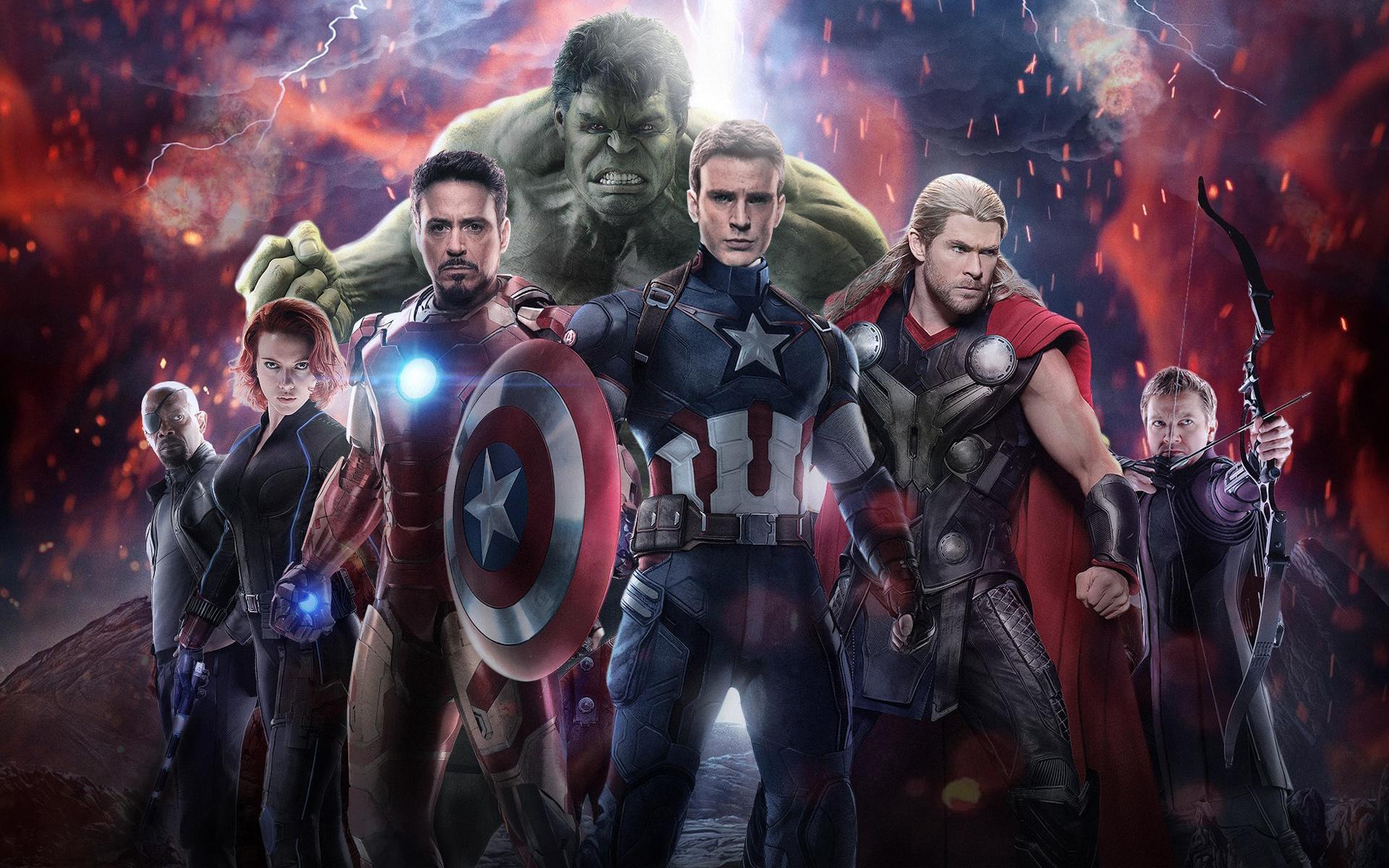 Galaxy Wallpaper For Iphone 4 電影 Avengers Age Of Ultron Chris Evans Hulk Scarlett