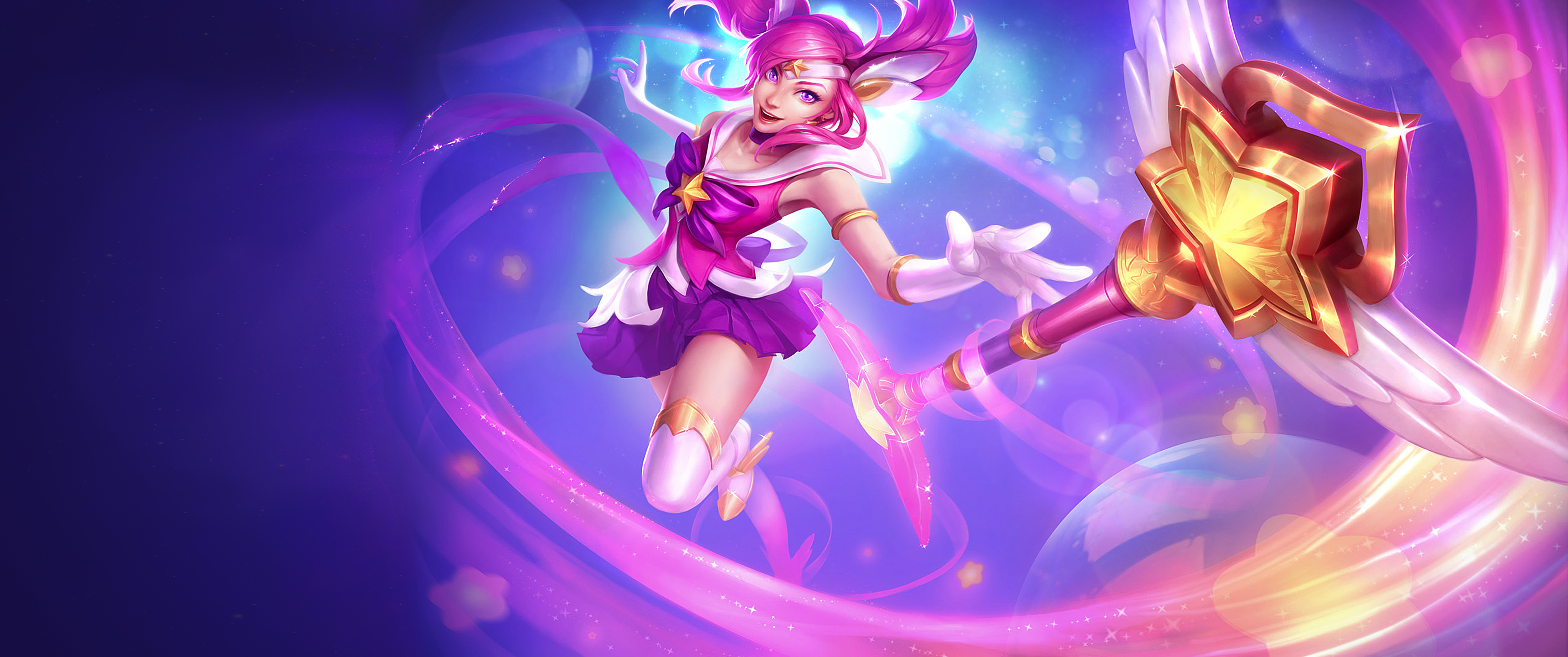 L Double Monitor Girl Wallpapers Star Guardian Lux Full Hd Fond D 233 Cran And Arri 232 Re Plan