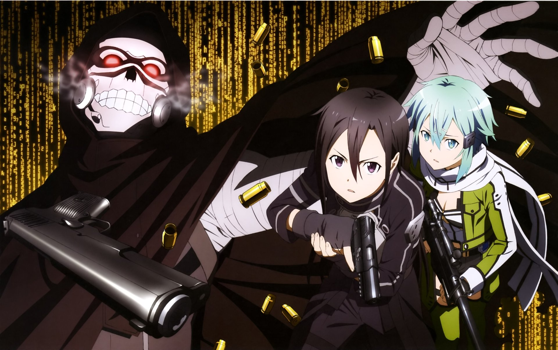 3840x1080 Hd Wallpapers Sad Quote Kirito And Sinon Vs Death Gun 4k Ultra Hd Wallpaper
