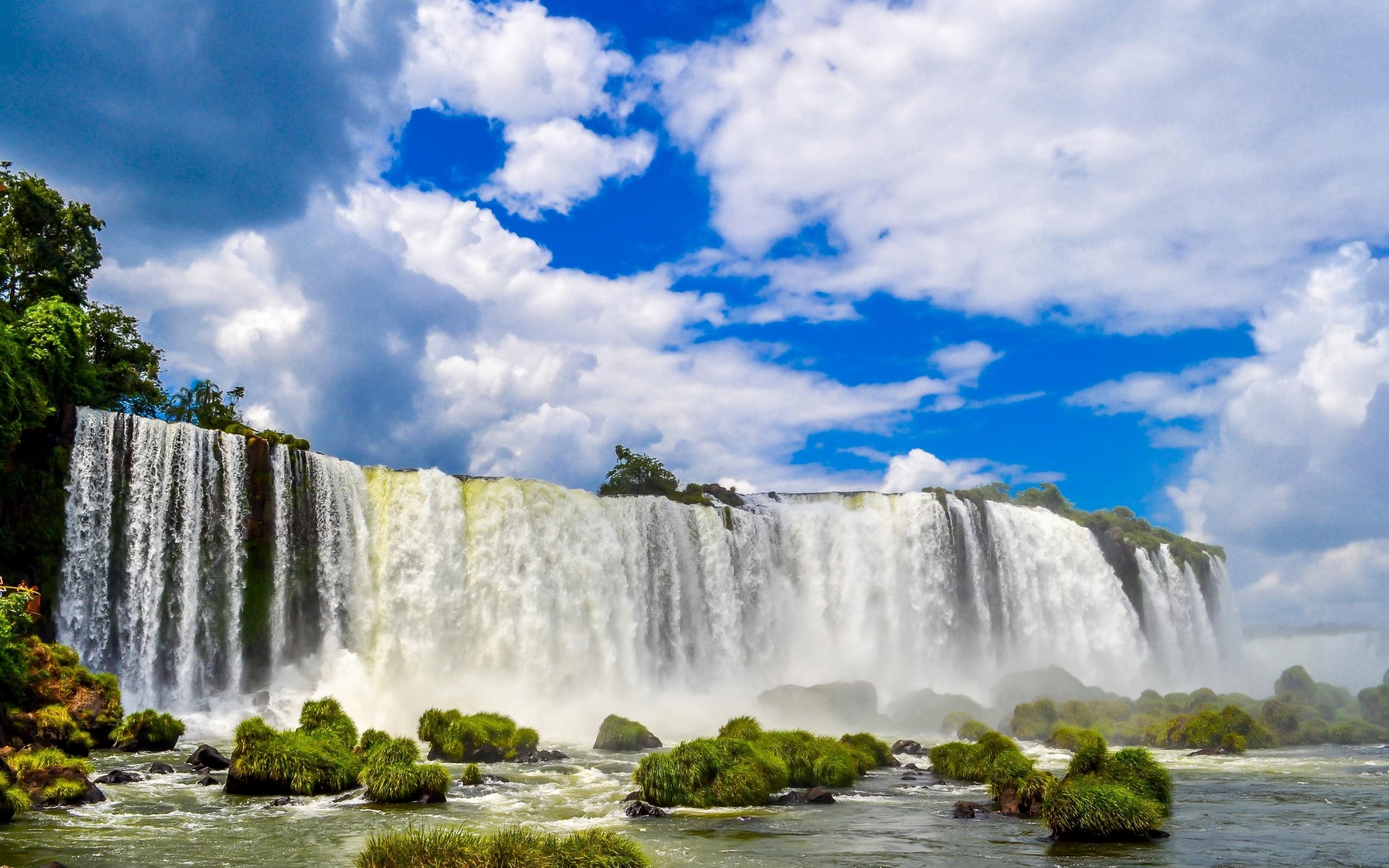 Iguazu Falls Iphone Wallpaper Iguazu Falls In Brazil Hd Wallpaper Background Image