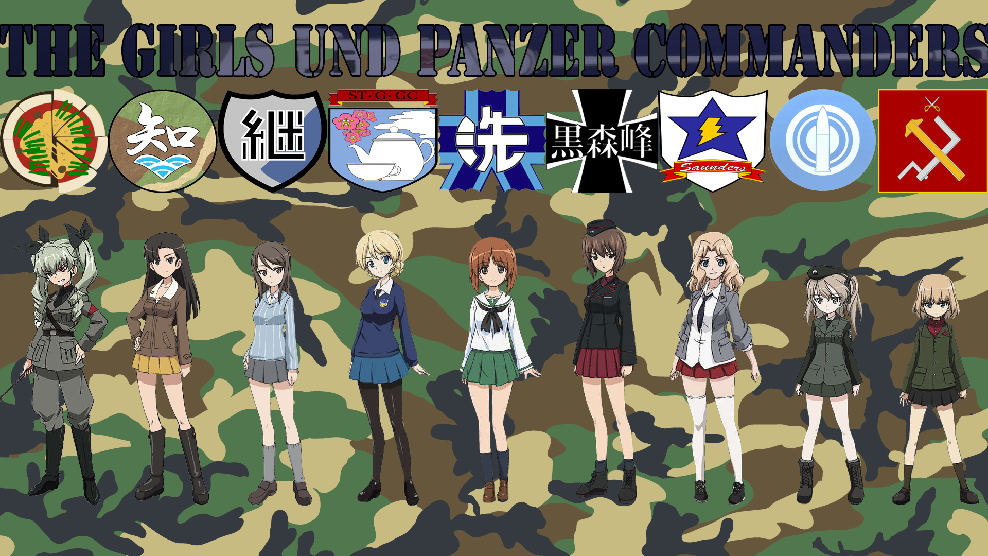 Cute Iphone Wallpapers For Girls The Overall Commanders Girls Und Panzer Full Hd 壁纸 And