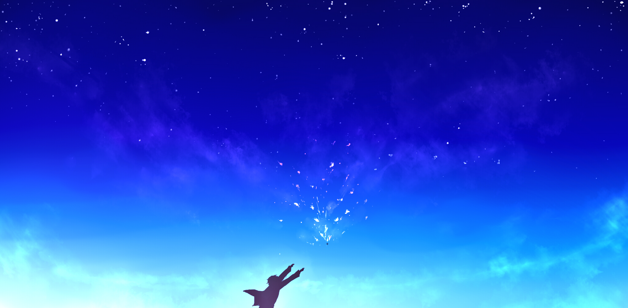 Anime Wallpaper Girl Looking At Stars Beyond The Boundary Wallpaper And Background Image