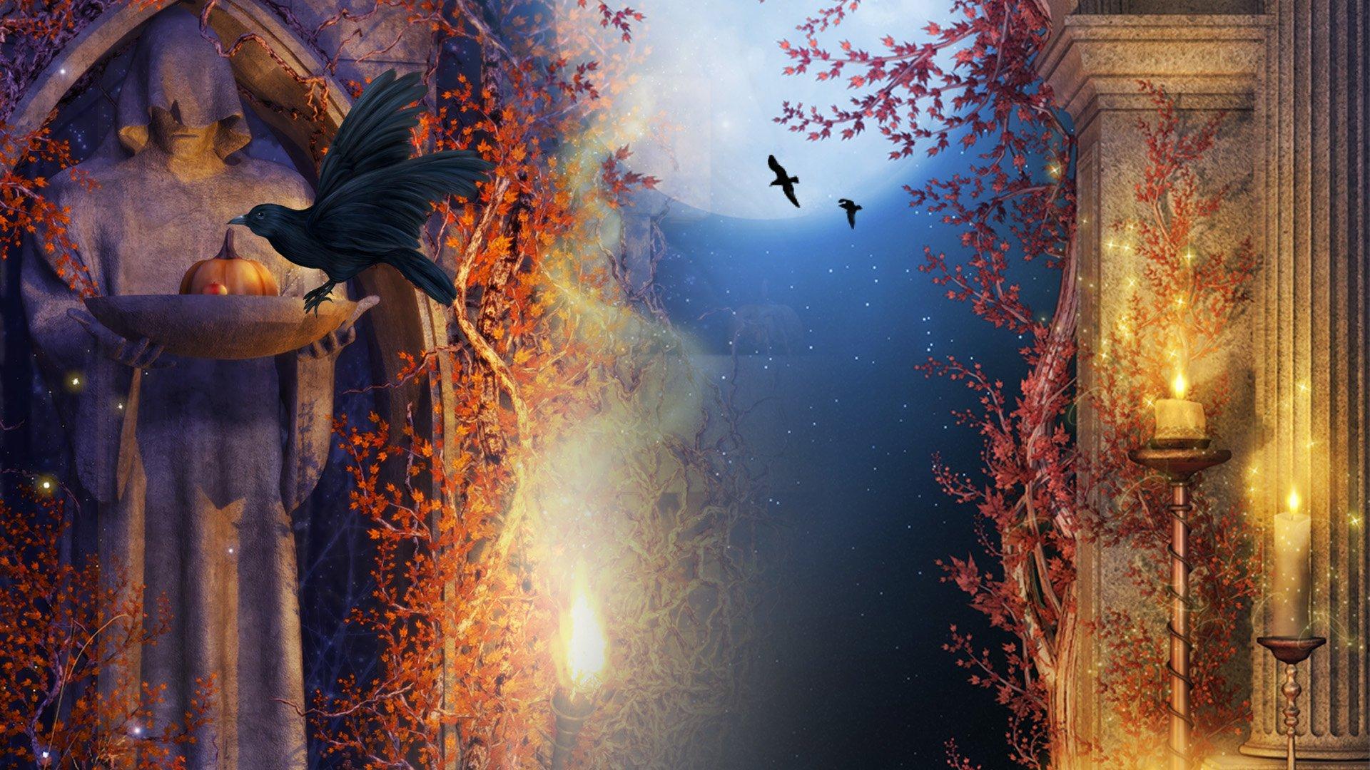 Fall Pumpkin Wallpaper Hd Gothic Halloween Hd Wallpaper Background Image