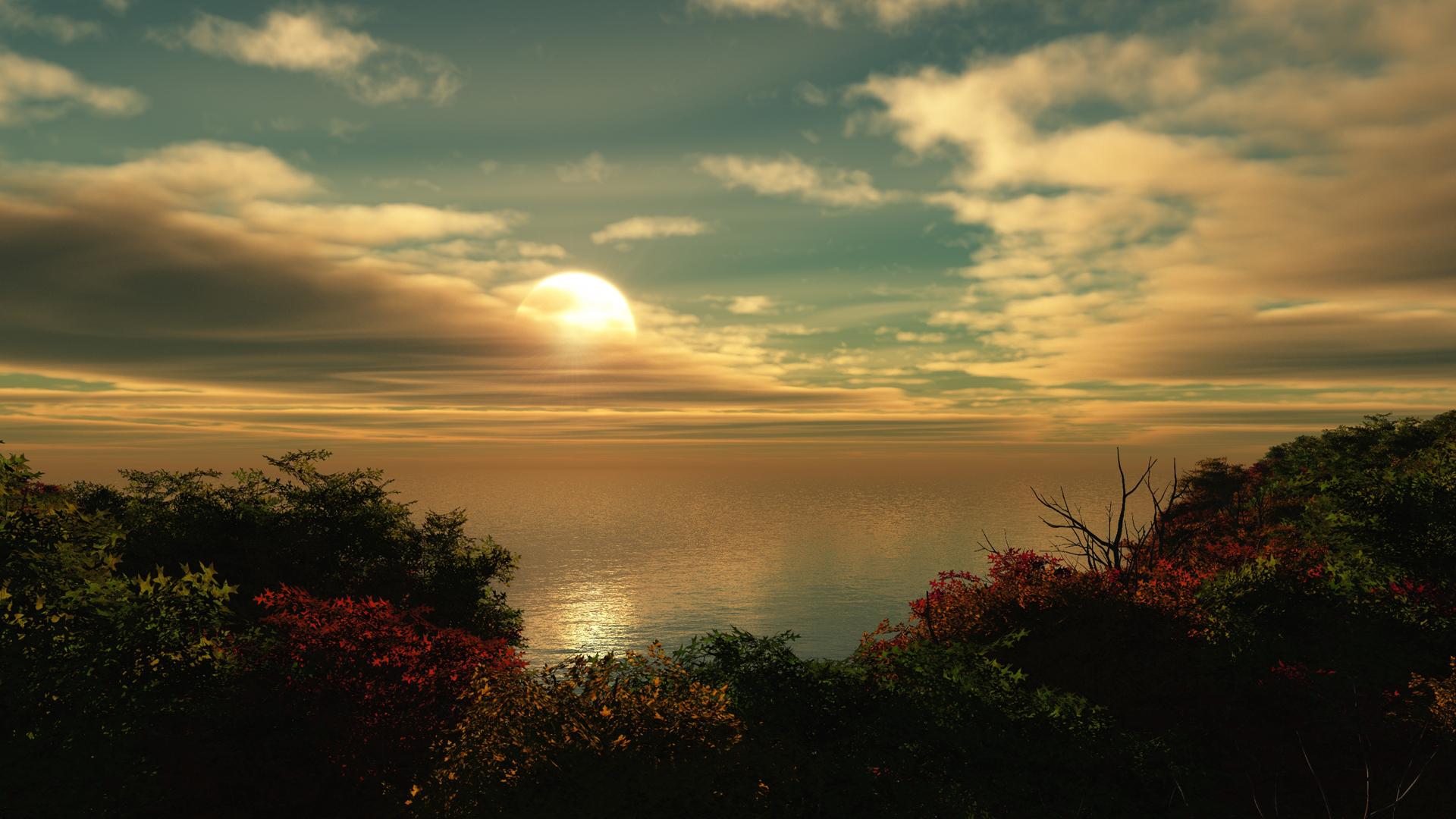 Fall Colors Wallpaper 1920x1080 Ocean Hd Wallpaper Background Image 1920x1080 Id