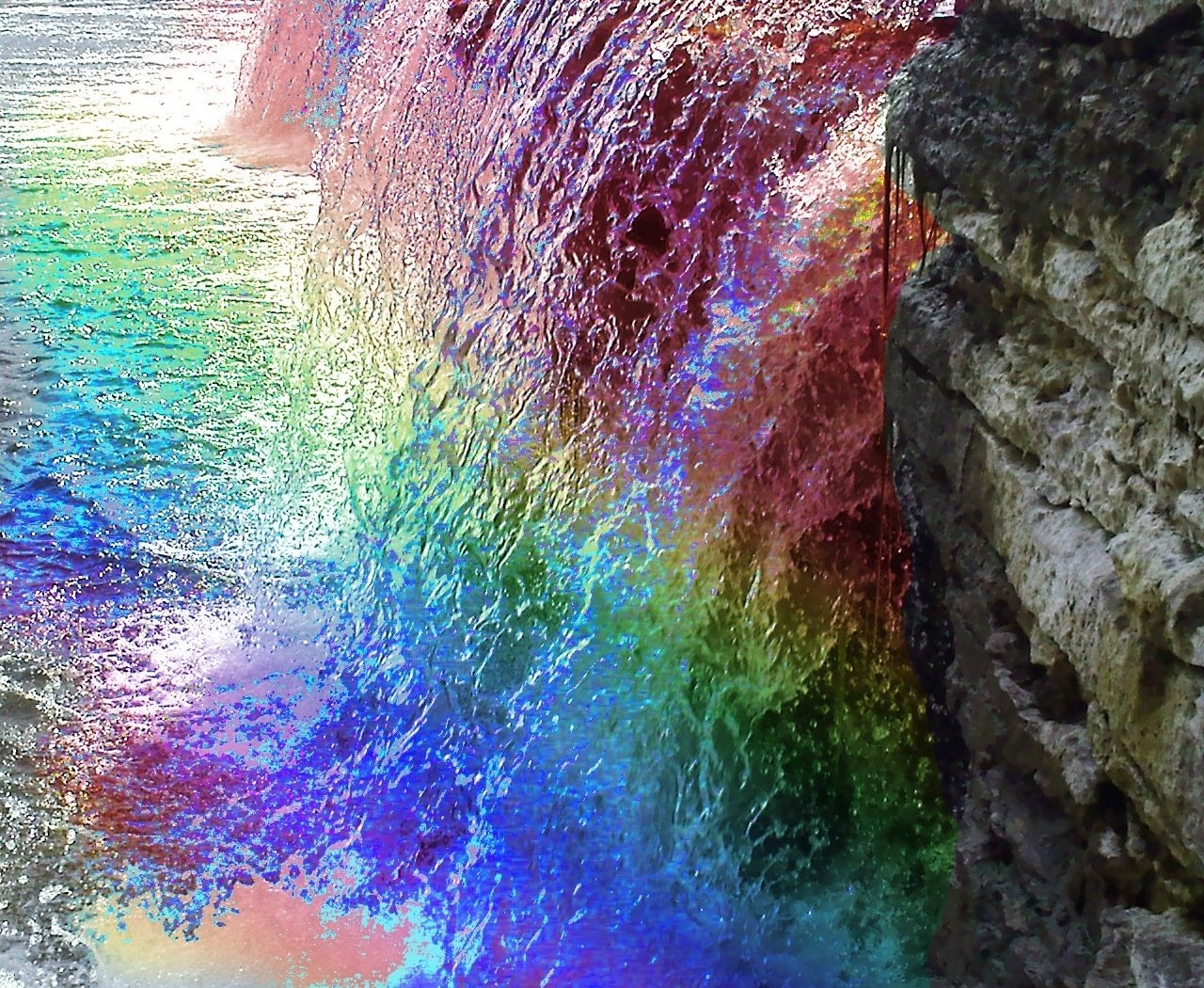 Lg Animated Wallpaper Rainbow River Wallpaper And Background 1280x1050 Id 87796
