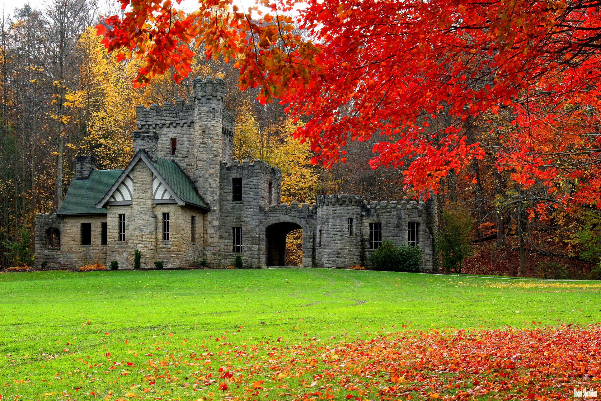 Fall Autumn Iphone Wallpaper Castle In Autumn Full Hd Wallpaper And Background Image