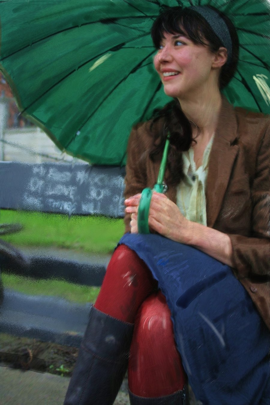 White Blue Wallpaper Hd Lisa Hannigan Images Rainy Day Hd Wallpaper And Background