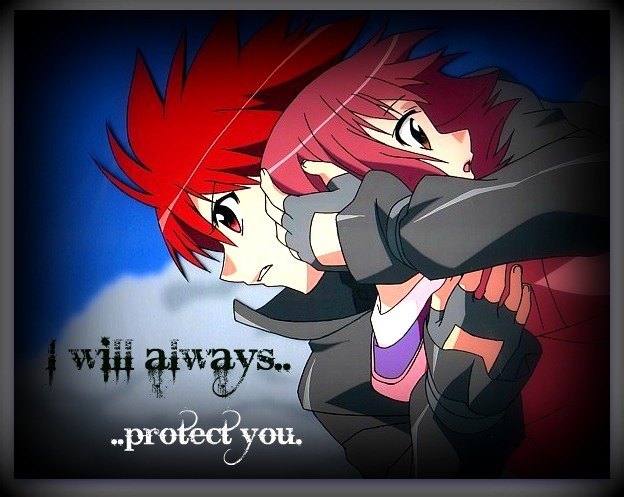 Cartoon Cute Couple Wallpaper Daisuke And Riku Images I Will Always Protect You