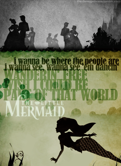 Broadway Quotes Wallpaper Pop Culture Mermaids Images Ariel Quote Wallpaper And