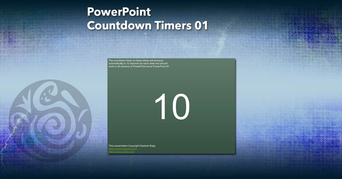 Animated PowerPoint Slides Simple Countdown - Indezine