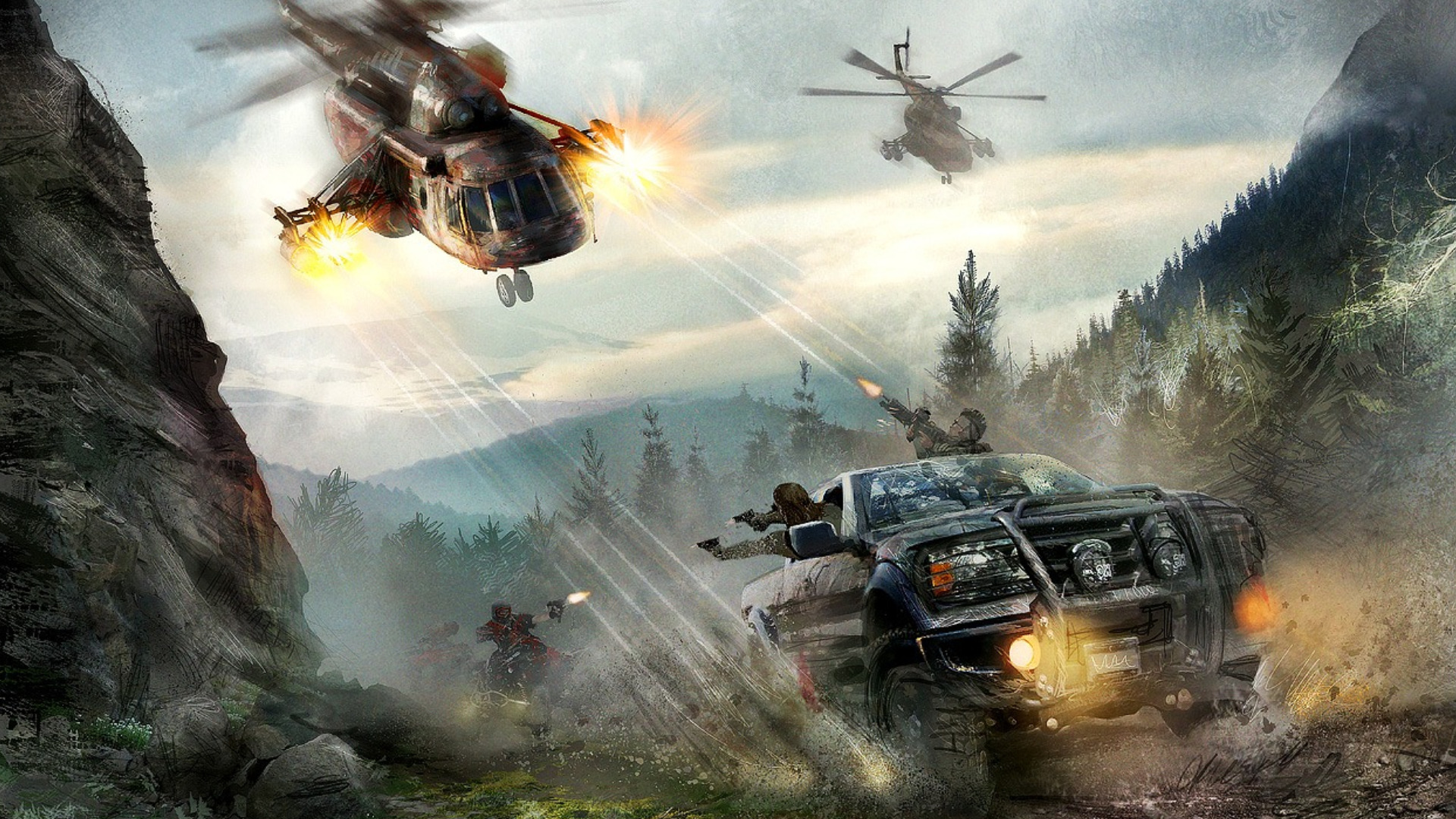 Police Car Chase Wallpaper 1 Modern Combat 3 Hd Wallpapers Backgrounds Wallpaper