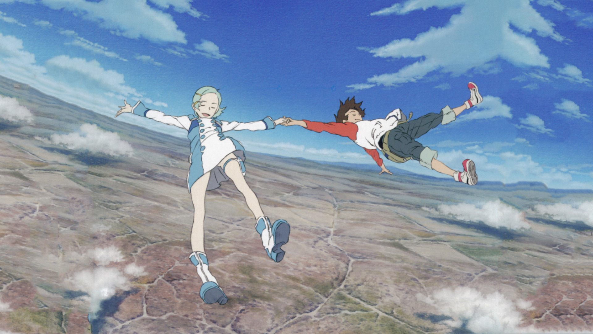 Anime Boy And Girl Couple Wallpaper Eureka Seven Full Hd Wallpaper And Background 1920x1080