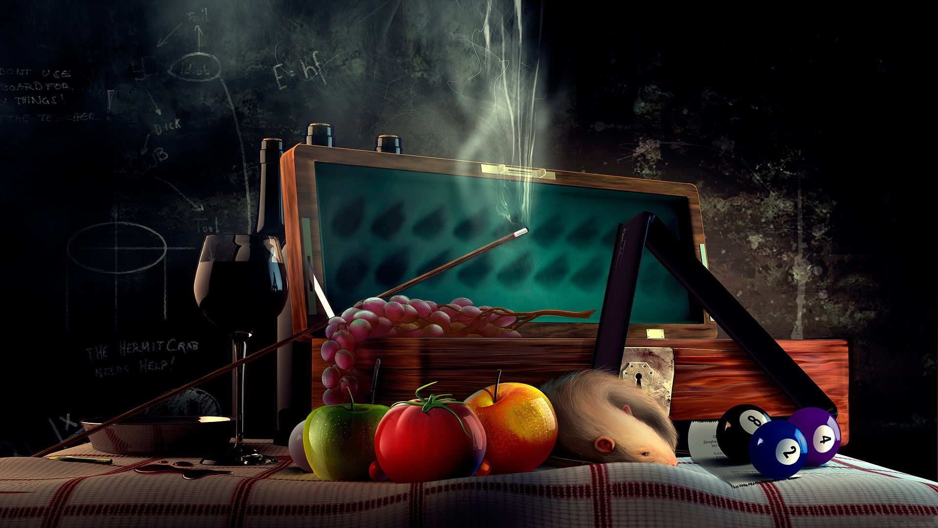 3d Wallpaper Pool Table Still Life Full Hd Wallpaper And Background Image