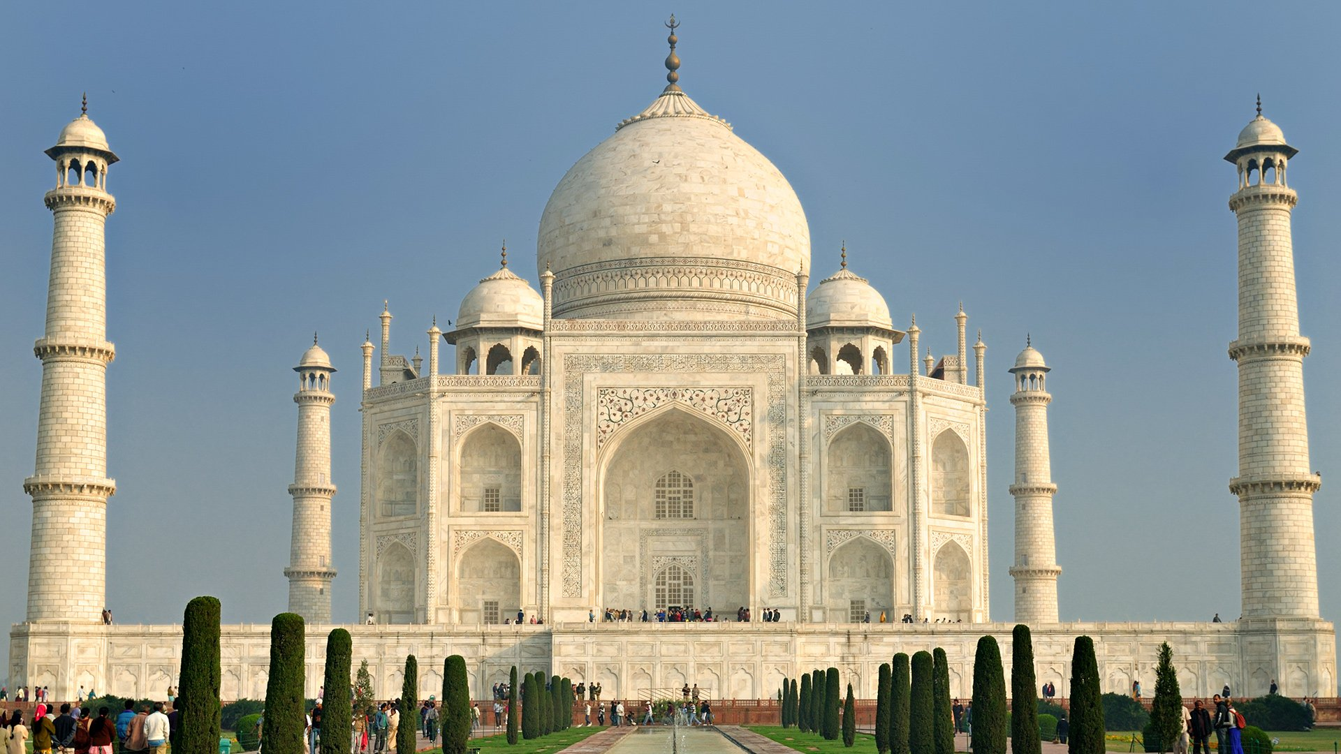 Hd wallpaper background id 358764 1920x1080 man made taj mahal