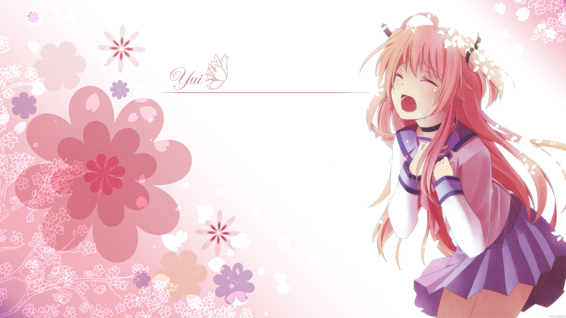 Girl Is Crying Wallpaper Angel Beats Full Hd Wallpaper And Background Image