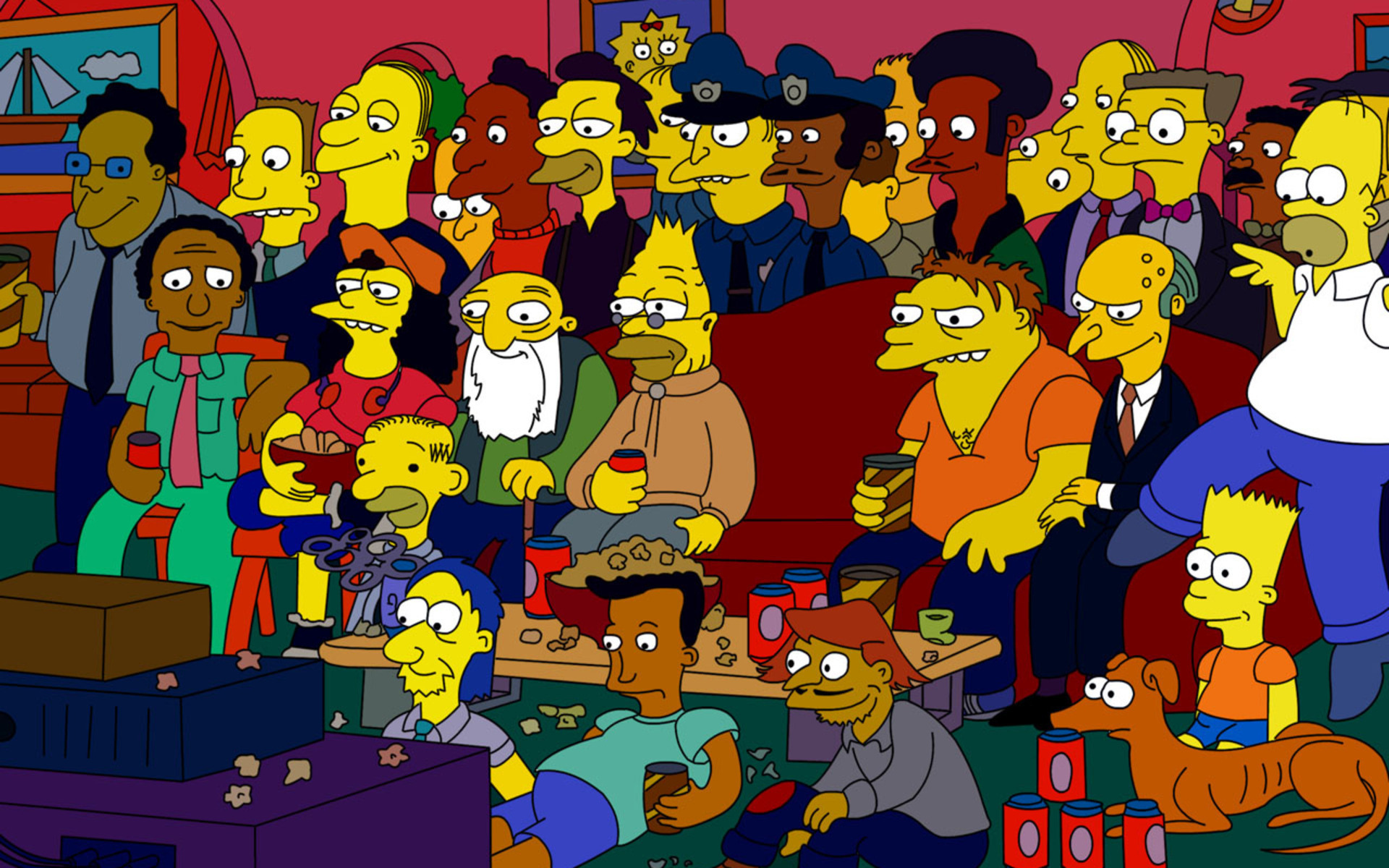 Amigo Big Sofa The Simpsons Full Hd Wallpaper And Background Image