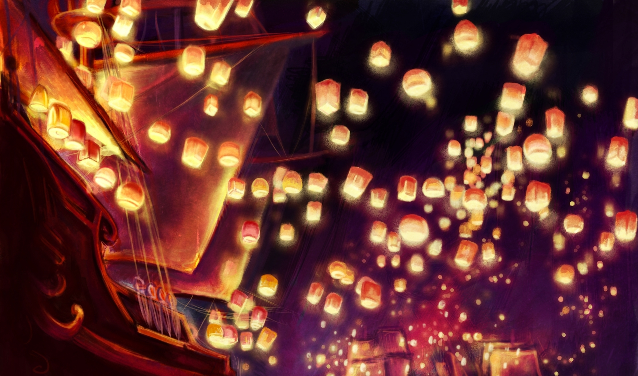 Sky Lanterns Wallpaper Iphone Tangled Full Hd Wallpaper And Background Image 2070x1220