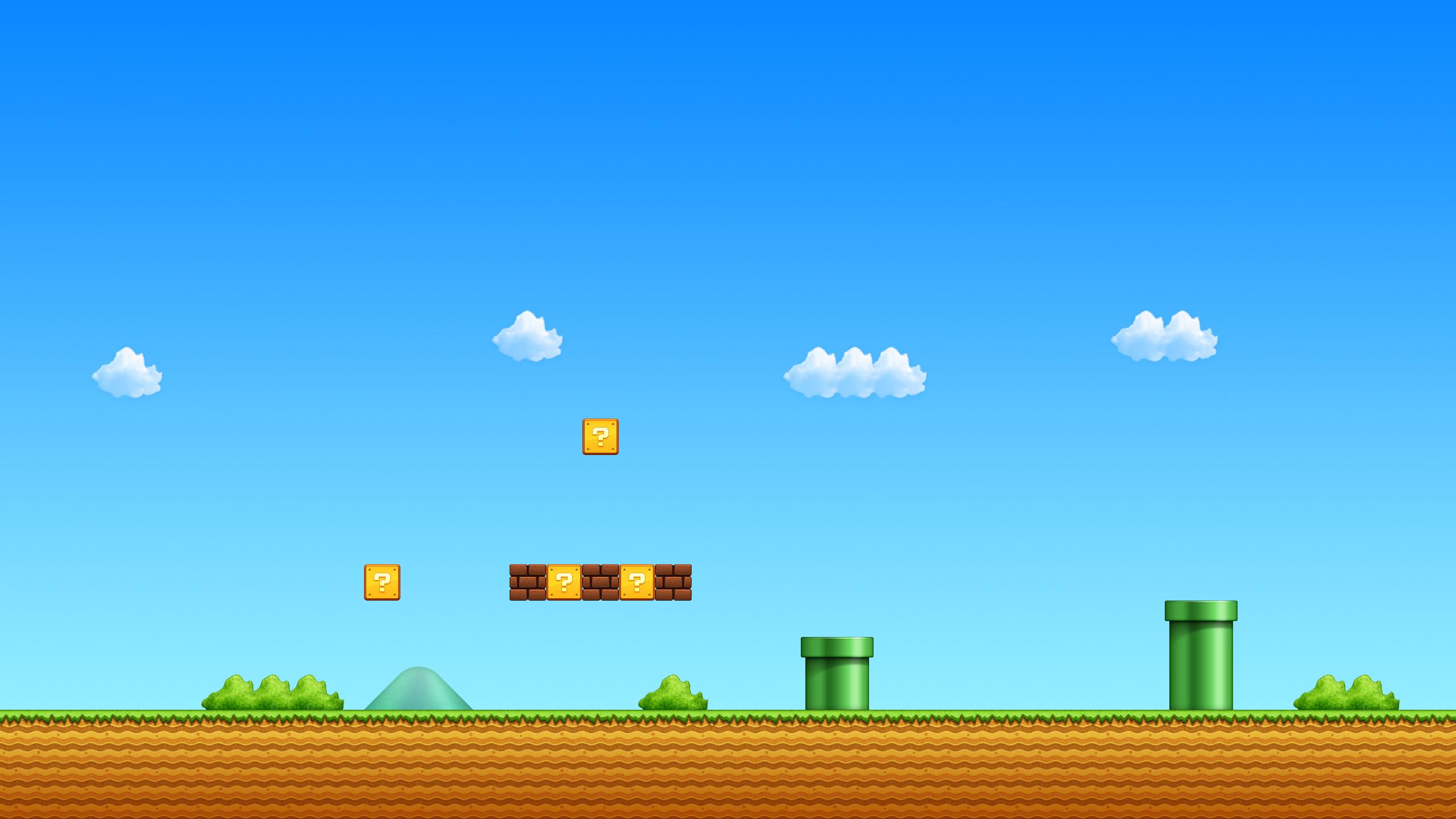 Mario Iphone Wallpaper Hd Super Mario Bros Fonds D 233 Cran Arri 232 Res Plan 2560x1440