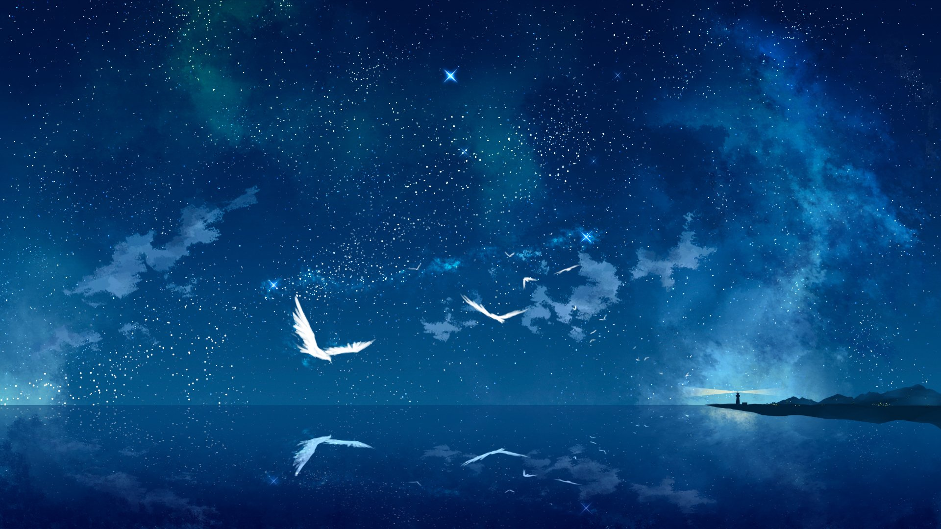 Sky Anime 391 Starry Sky Hd Wallpapers Background Images Wallpaper Abyss