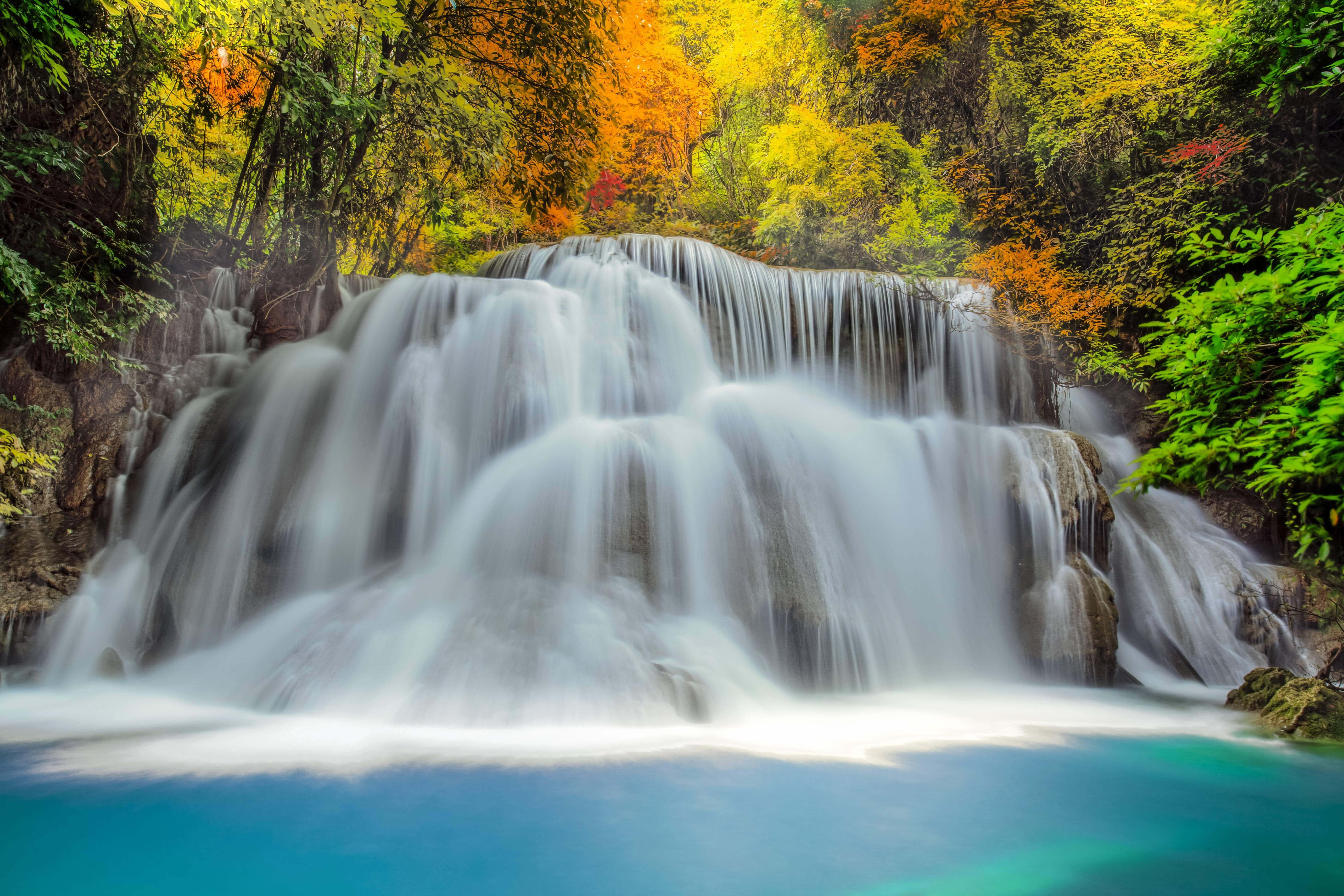 Hd Fall Wallpaper Iphone 5 Waterfall 電腦桌布 桌面背景 5616x3744 Id 562925