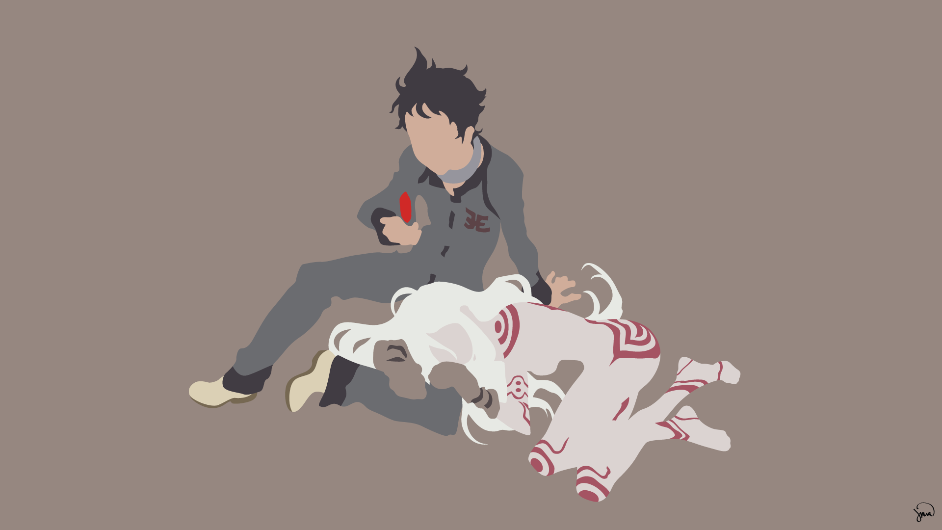 Deadman Wonderland Hd Wallpaper Ganta And Shiro Hd Wallpaper Background Image