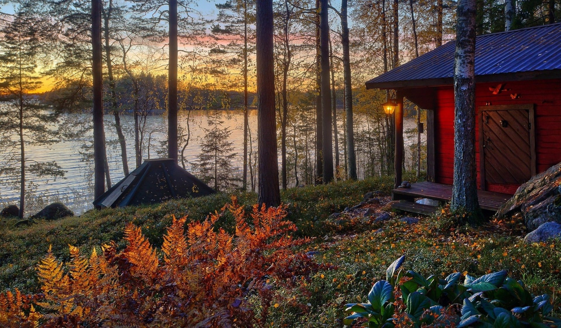 Fall Wallpaper Backgrounds Hd Cabin On The Lake Hd Wallpaper Background Image