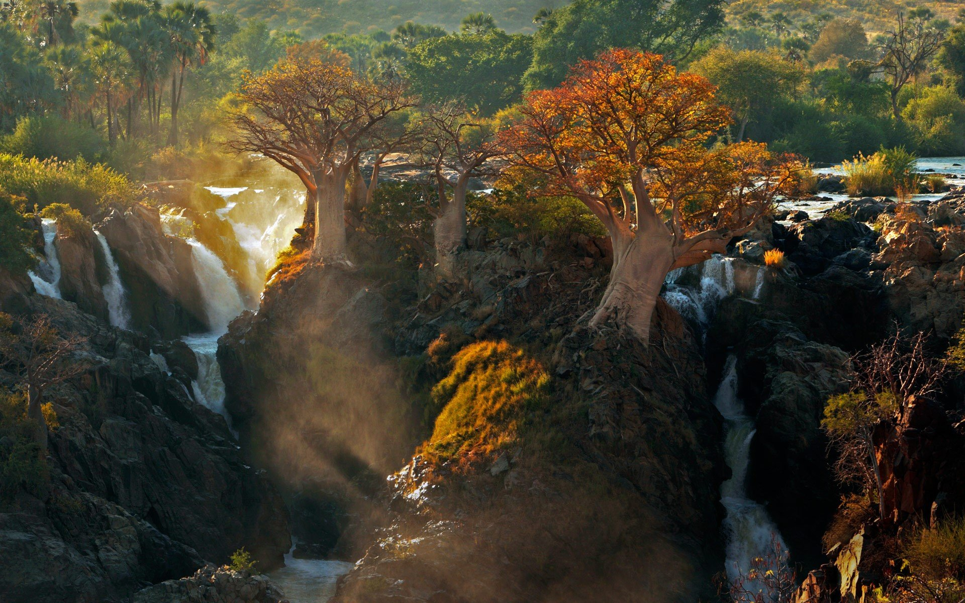 Cool Wallpapers Water Fall Waterfalls In Namibia Hd Wallpaper Background Image