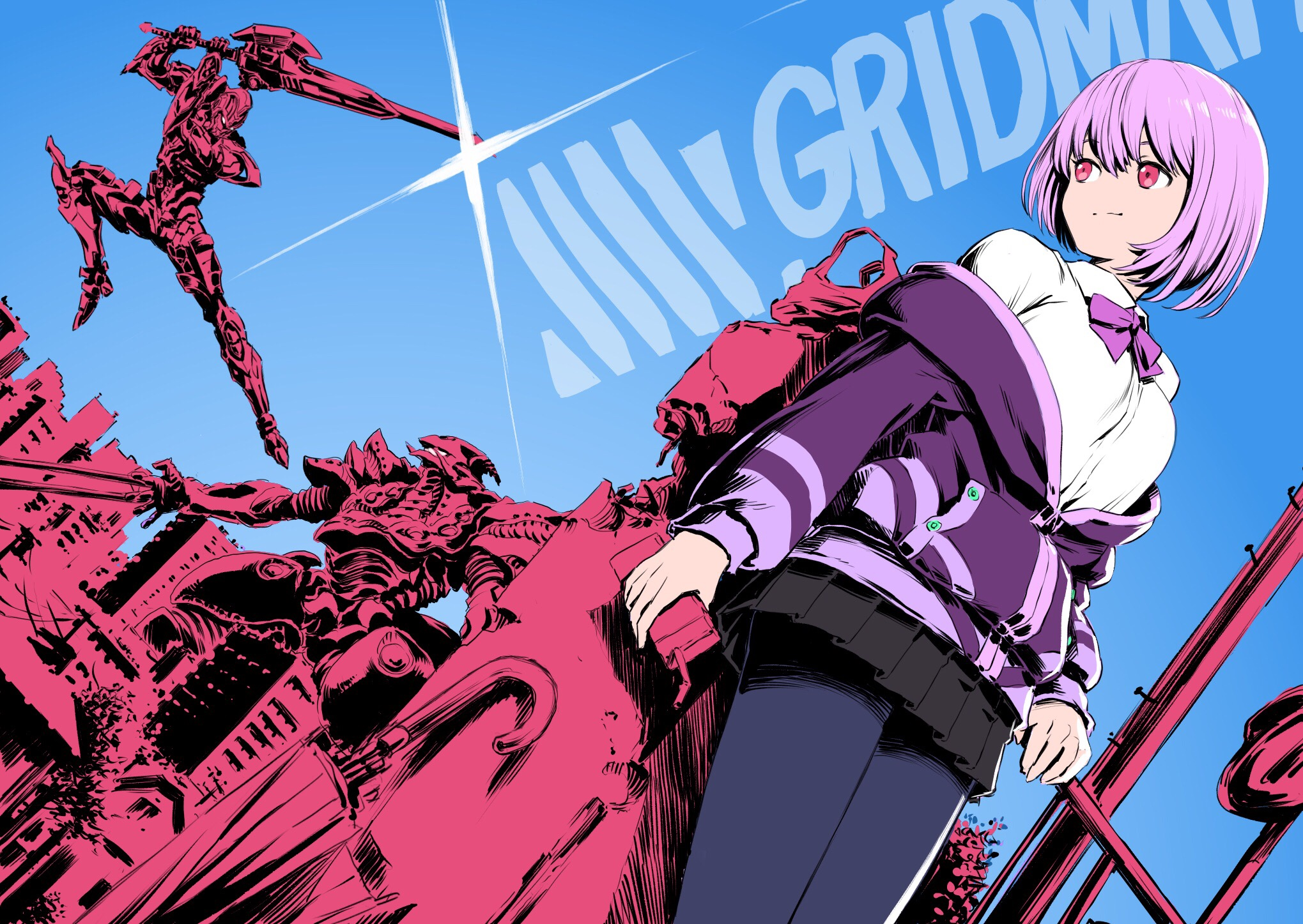 Hd Wallpapers Simple Girl 9 Ssss Gridman Hd Wallpapers Background Images