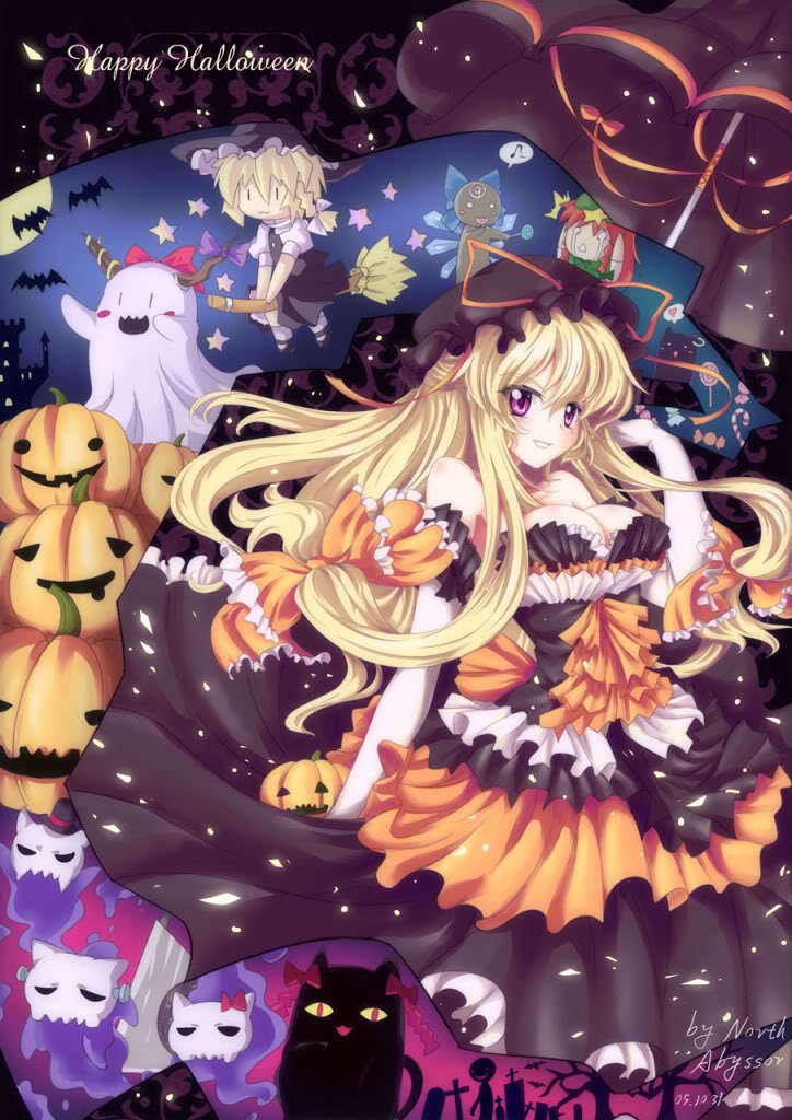 Cute Bunny Wallpaper Cartoon Touhou Horidei Images Touhou Halloween Hd Wallpaper And