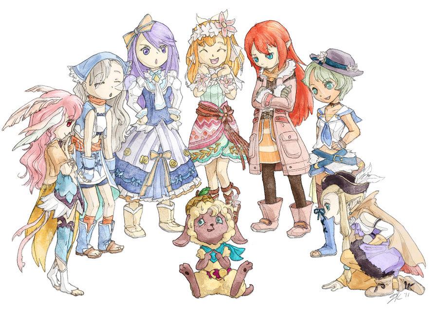 Cute Cartoon Boy And Girl Wallpapers Rune Factory Forever Images Rune Factory 3 Hd Wallpaper