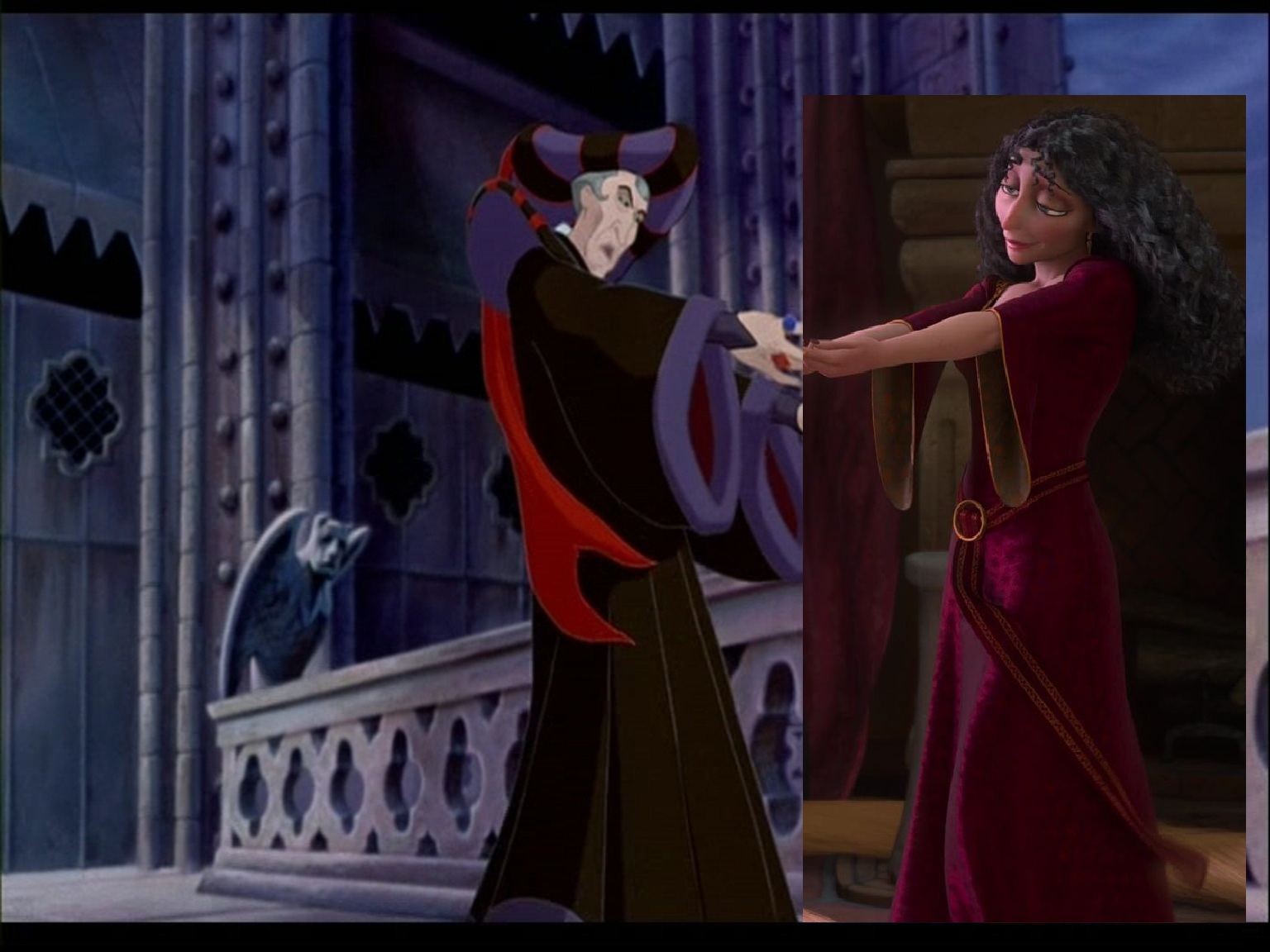 Tattoo Girl Hd Wallpaper Download Frollo And Gothel Images Frollo Amp Gothel Holding Hands Hd