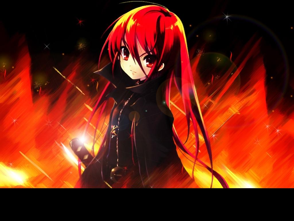 Angel Girl And Skulls Wallpaper Anime Girl Fire Demon Www Imgkid Com The Image Kid Has It