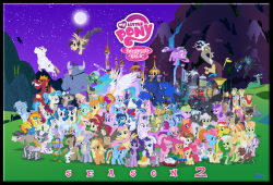 My Little Pony Friendship is Magic Character Cluster by Blue-Paint-Sea