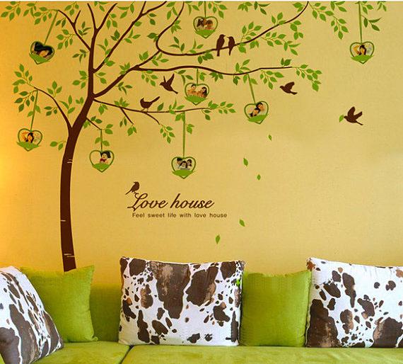 love house tree photo frame wall sticker home decorating photo photo frames wall stickers binary box notonthehighstreet
