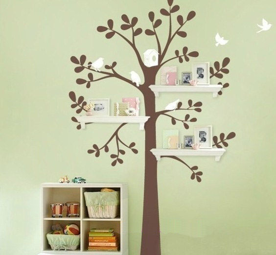 home decorating flying birds tree wall sticker home sweet home wall sticker decals