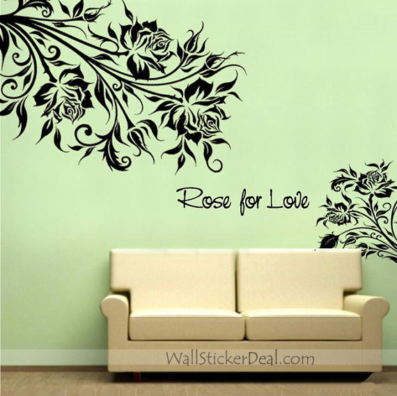 rose love rose flower wall stickers home decorating photo home sweet home wall sticker decals
