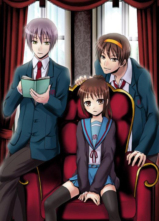Hd Wallpaper Cartoon Girl Gender Benders Images Yuuki Haruki And Kyonko Hd