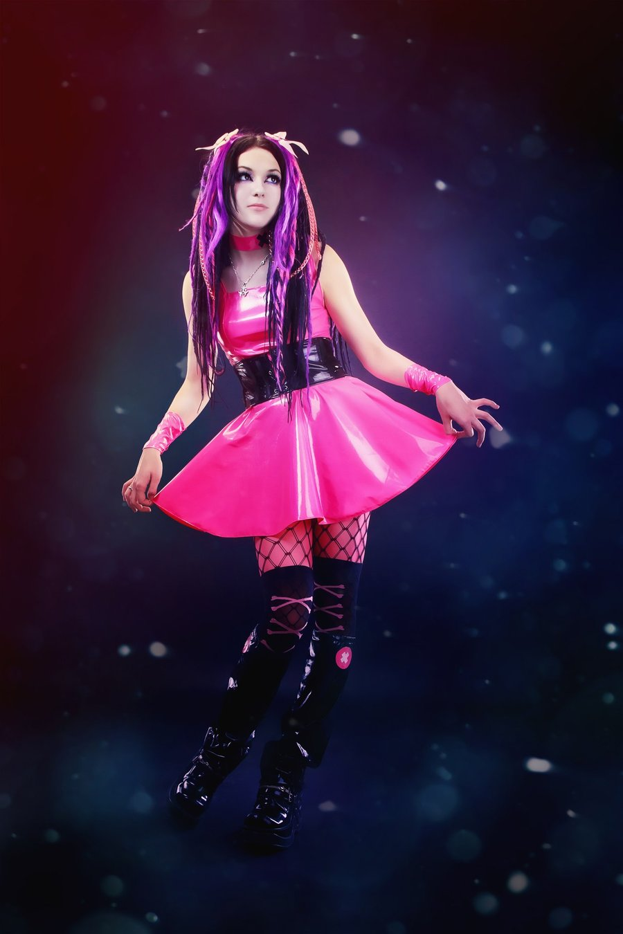 Red Dress Girl Wallpaper Many Styles Images Cybergoth Hd Wallpaper And Background