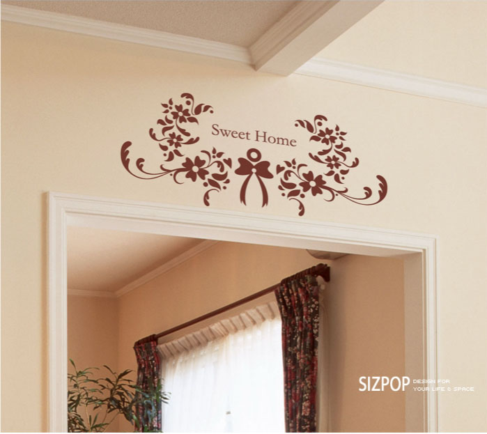 sweet home flower wall sticker home decorating photo home sweet home wall sticker decals